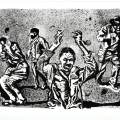 Xolile Mtakatya, 2018. <em>Jikijela</em>, lithogrph on paper