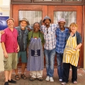 Some kind of CAP reunion (left to right) : Mario Pissarra, Manfred Zylla, Lionel Davis, Ricky Dyaloyi, Xolile Mtakatya and Patricia De Villiers. Absent: Sophie Peters, Thami Kiti, Ndikhumbule Ngqinambi (Photo: Scott Eric Williams)