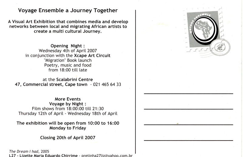 Voyage Ensemble, A Journey Together - Exhibtion Invite