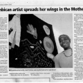 Mozambican artist spreads her wings in the Mother City, 2006.