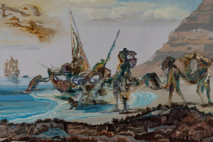 Jakob Willemzoon de Wet Arrives at the Cape, oil on board, 80x120cm