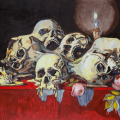 An Embarrassment of Riches, oil on board, 60x80cm