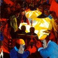 <em>MAWU - Metal and Allied Workers Union mural</em>, NUMSA offices Newtown JHB, 1982. Oil on board, Triptych 140 x 360 cm