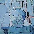 Mandla Mabila - Blue painting