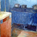 Mandla Vanyaza - Interior with three pots