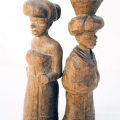 <em>Wooden figures</em>. Wood, 10 cm