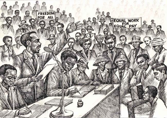 Illustration for 'New Internationalist'
