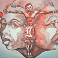 Muziwakhe Nhlabatsi - Untitled (Man between two heads)