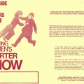 Flyer for The Working Woman Charter Show
