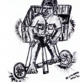 <em>Box-cart</em>, 1970. Ink on board, 45 x 60 cm