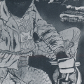 <em>Myself in 1968</em>, 1980. Washaway on paper. 75 x 55 cm