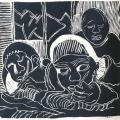 <em>The classroom wrangle III</em>, 1989. Linocut. 29 x 30,9 cm