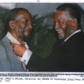 Newspaper clipping - President Thabo Mbeki and Peter Clarke - 2005