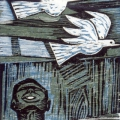 This is a hard world, 1977, Linocut, 35x19,5cm a