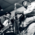Barney Rachabane and Winston Mankunku
