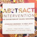 Abƨtяact Intervention, 2014