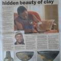 Master artist captures hidden beauty of clay, Sunday World, 14 August 2016