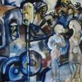 Coal Truck / Jo'burg streets, 1975. Oil on Canvas