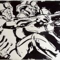 Rock Drill Operators, 1973. Silkscreen