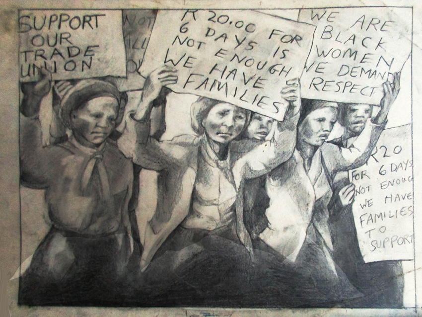 Support our Union, 1982. Silkscreen (from drawing)
