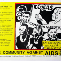 Defend against AIDS (for National Progressive Primary Health Care Network), 1993. Poster