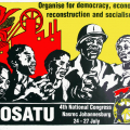 COSATU 4th National Congress, 1992. Litho poster