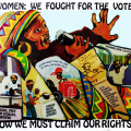 Women we fought for the vote, 1994. Litho poster
