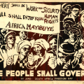 The People Shall Govern, 1981. Silkscreen (for Medu Art Ensemble)