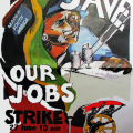 Save our Jobs strike (textile workers), 2001. Poster (for COSATU)