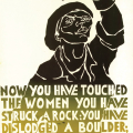 Struck a Rock poster, 1981. Silkscreen poster (with Medu Art Ensemble)