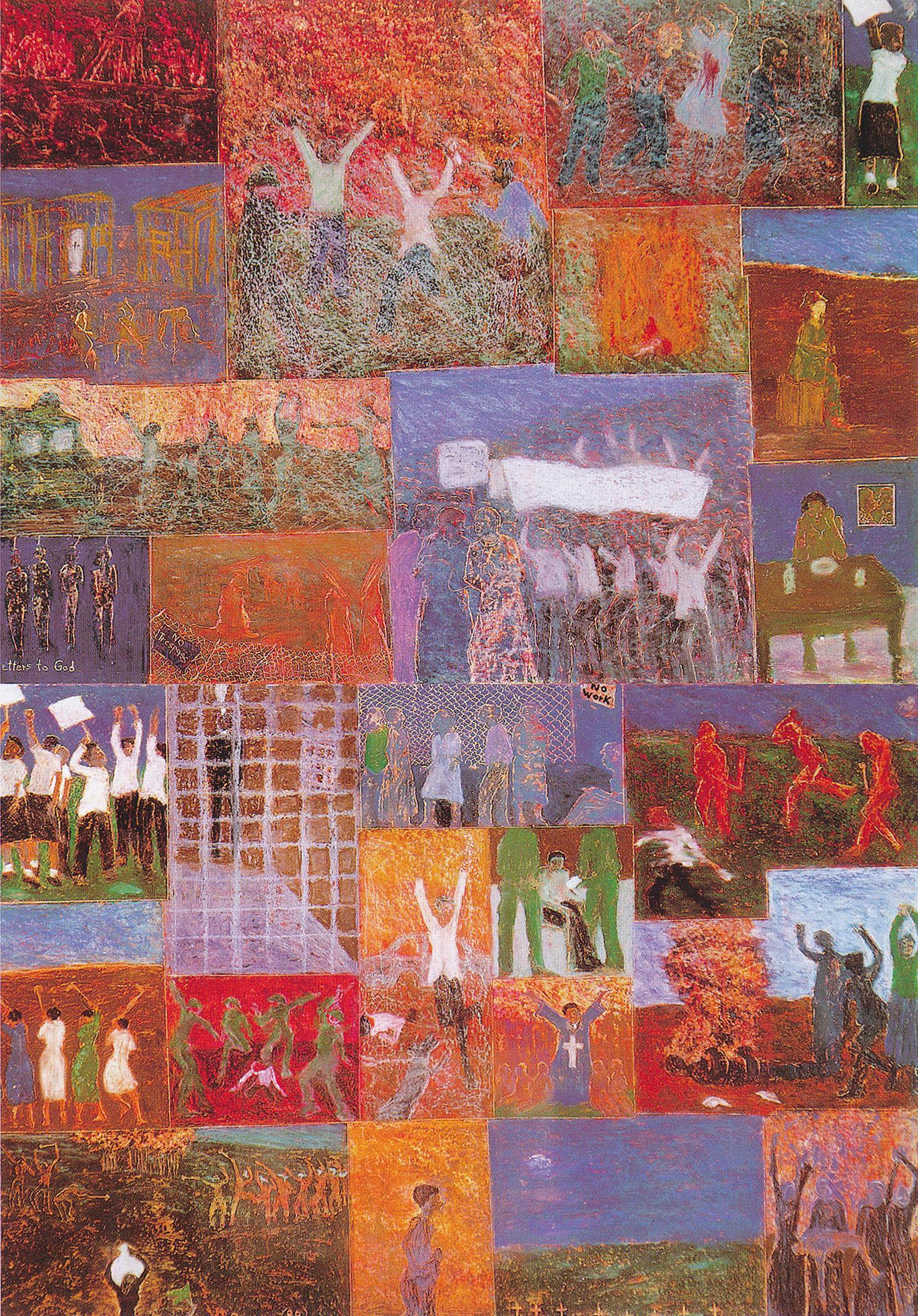 <em>Letters to God (detail)</em>, 1988. Oil pastel on paper, 128 x 91 cm