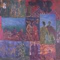 <em>Love</em>, 1987-8. Craypas and wax crayon on paper. 64 x 86 cm