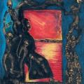 <em>Door of no return</em>, 2001/2. Oil pastel on paper, 32 x 29 cm