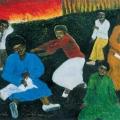 <em>The child has gone</em>, 1991. Oil pastel on paper, 49 x 62 cm