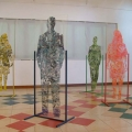 <em>Crossroad</em>. 2007. Fibre-glass, metal, oil paint & tiles. 5x5x2m