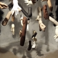 <em>Dominion</em>. 2017. Mannequinn hands & arms, hands made with polyetene, paint & nylon threads. 5x5x5m