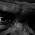 Cropped face, intense eyes, 2016