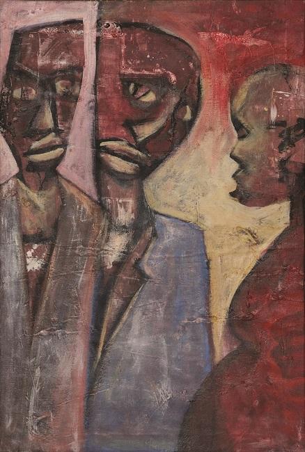 <em>Double Talk</em>, 2013. Acrylic on canvas, 74 x 46 cm (Image courtesy of DAG)