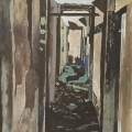 <em>The Corridor</em>, 2011. Acrylic on masonite board, 60 41 cm (Image courtesy of DAG)