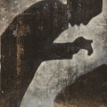 <em>Prayer</em> from <em>The Black Painting</em> series, 2013. Acrylic on metal, 80 x 50 cm (Image courtesy of DAG)