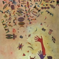 <em>African Constellation</em>, 2010. Acrylic on canvas, 173 x 130 cm (Image courtesy of DAG)