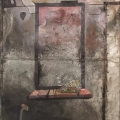 <em>The Backroom</em> from <em>The Black Painting</em> series, 2012. Acrylic on metal, 220.5 x 123 cm (Image courtesy of DAG)