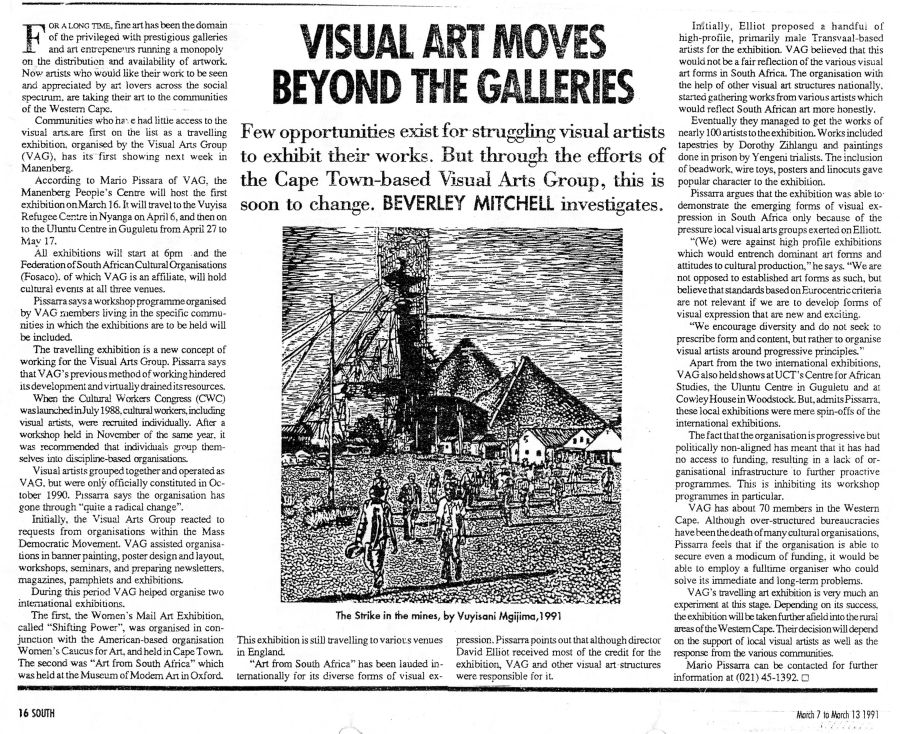 Beverley Mitchell. Visual Art Moves Beyond The Galleries. 7 - 13 March 1991.