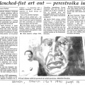 Krisen Pather, Clenched-Fist Art Out - Perestroika In!. March 1991