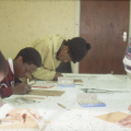 Visual Arts Group workshop, Zolani Centre, Nyanga East, 1992 (photo: MP)