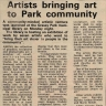Vakalisa - ?Artists bringing art to Park community?, Cape Times, 1982