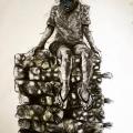 <em>BlackTax vs Dreams</em>, 2017. Mixed media on paper, 150x128cm