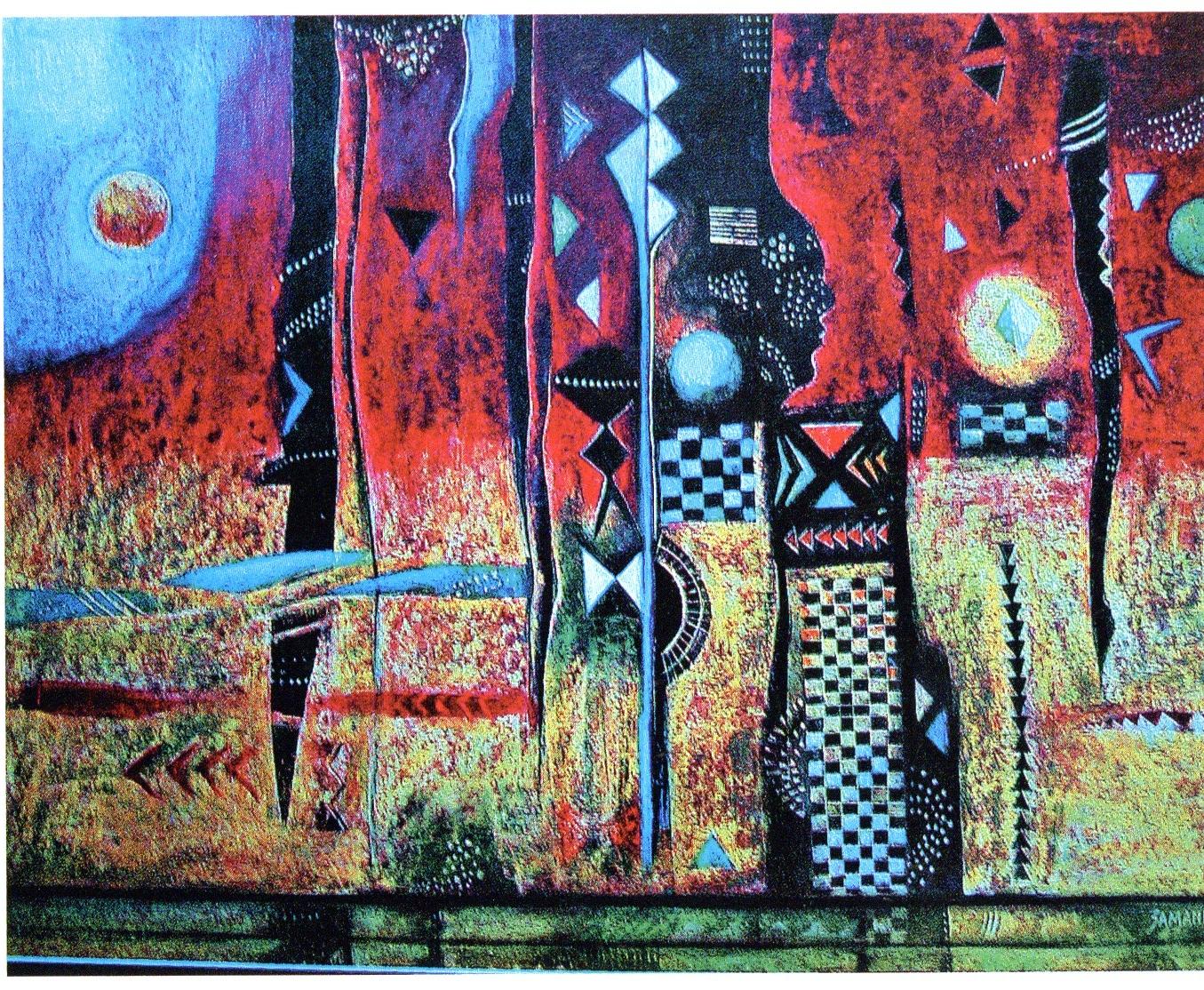 <em>Bafo Bafo</em>, oil pastel, 2003