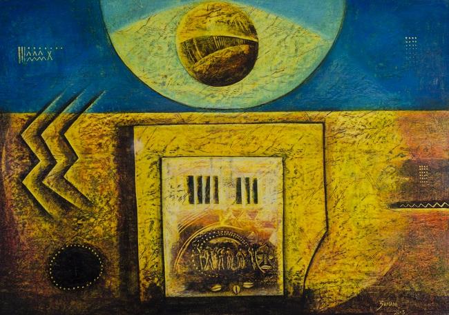 <em>Divine Intervention</em>, 2003. Oil pastel on paper, 60 x 85 cm. Collection: Durban Art Gallery