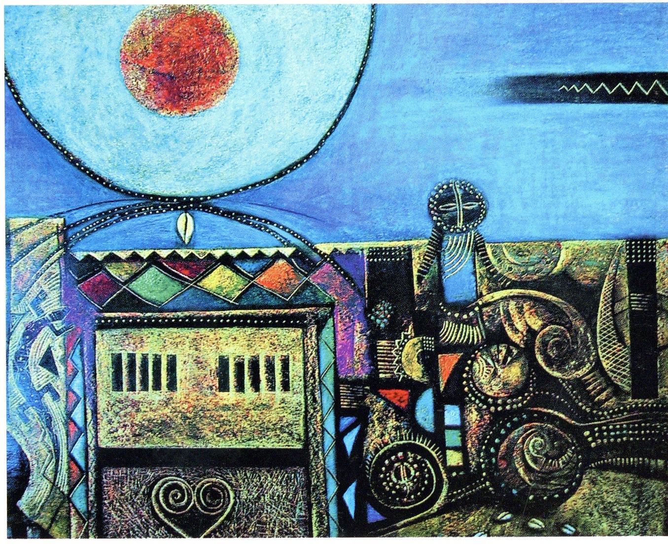 <em>The Shrine</em>, Oil pastel, 2003
